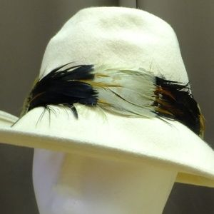"Vintage Cream Color Fedora 7"" Styled By Coralie"